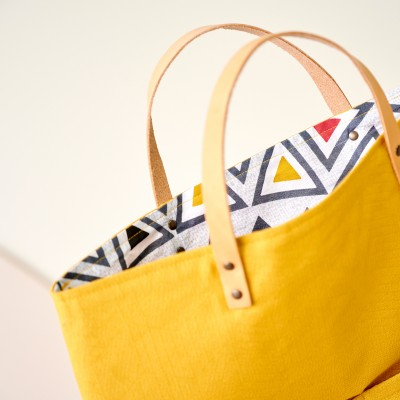 Sac shopping transformable en besace, fabrication éco-responsable Curry: Vue 4