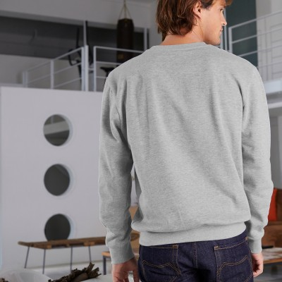 "Sweat molleton homme ""cool"" Gris chiné: Vue 4"