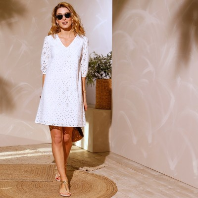 Robe broderie anglaise Blanc: Vue 5