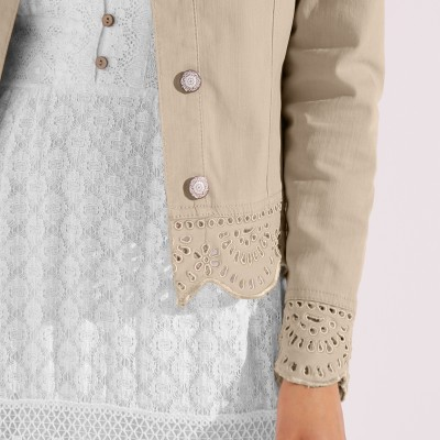 Veste broderie anglaise Sable: Vue 5