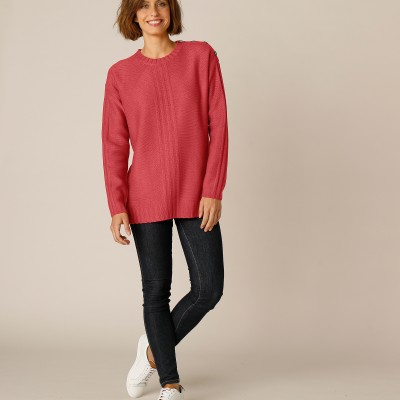 Pull femme col rond maille fantaisie Paprika: Vue 5