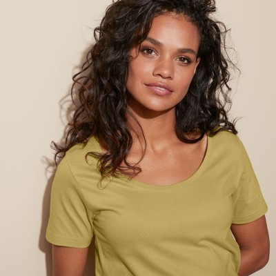 Tee-shirt col rond uni Olive: Vue 5