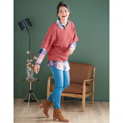 Pull poncho manches coudes Tomette: Vue 5