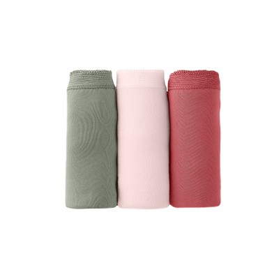 Culotte maxi basique - lot de 3 Kaki + rose + terracotta: Vue 5