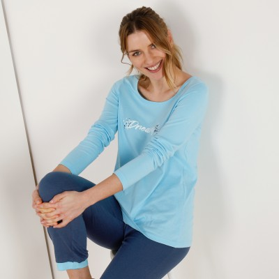 Tee-shirt manches longues – turquoise Turquoise: Vue 5
