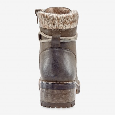 Bottines montagnardes, col chaussette - taupe Taupe: Vue 5