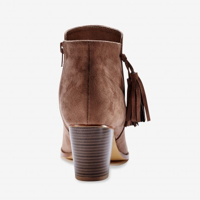 Boots finition pompons Taupe: Vue 5