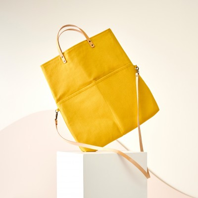 Sac shopping transformable en besace, fabrication éco-responsable Curry: Vue 5