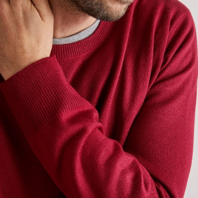 Pull uni col rond Rouge carmin: Vue 5