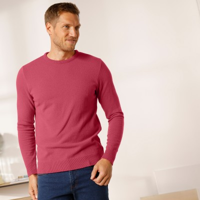 Pull col rond 80% laine Pourpre: Vue 5