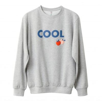 "Sweat molleton homme ""cool"" Gris chiné: Vue 5"