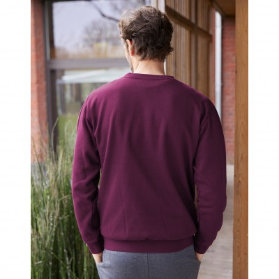 Sweat molleton col rond Prune: Vue 5