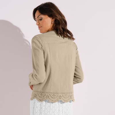 Veste broderie anglaise Sable: Vue 6