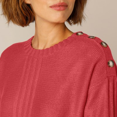 Pull femme col rond maille fantaisie Paprika: Vue 6