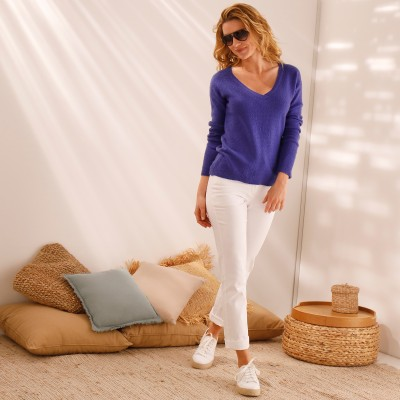 Pull col V maille jersey Iris: Vue 6