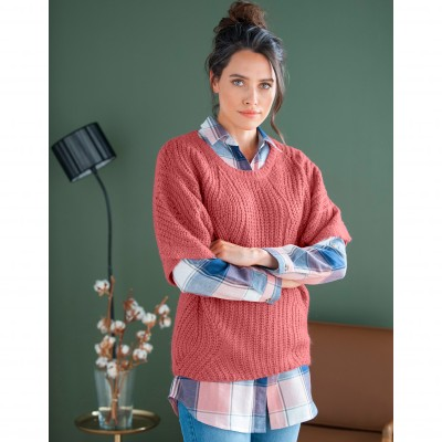 Pull poncho manches coudes Tomette: Vue 6
