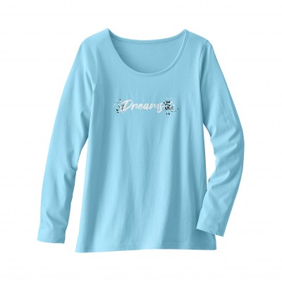Tee-shirt manches longues – turquoise Turquoise: Vue 6