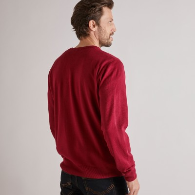 Pull uni col rond Rouge carmin: Vue 6