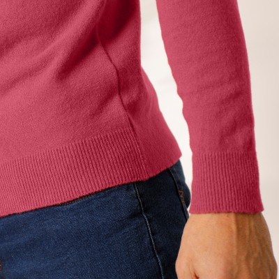 Pull col rond 80% laine Pourpre: Vue 6