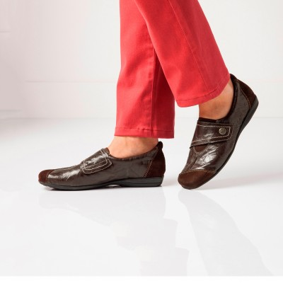 Derbies en cuir souple Marron: Vue 6