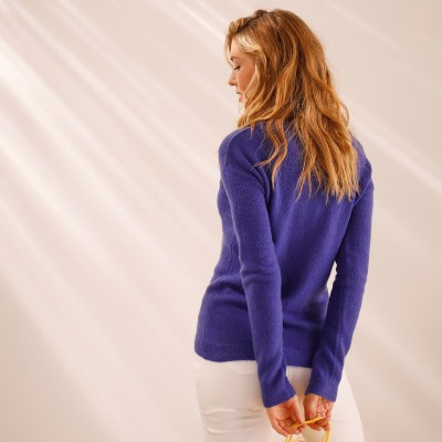 Pull col V maille jersey Iris: Vue 7