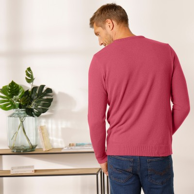 Pull col rond 80% laine Pourpre: Vue 7