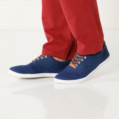 Sneakers toile lacets Marine: Vue 6