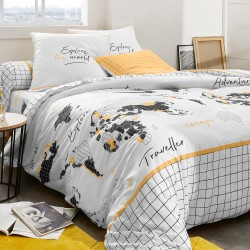 Linge de lit World coton
