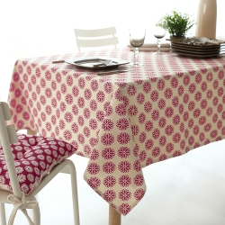 Linge de table imprimé coton