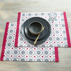 Set de table imprimé - lot de 4