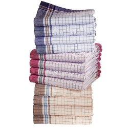 Mouchoir homme grands carreaux - Lot de 12