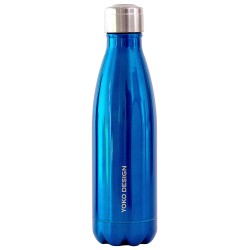 Bouteille isotherme inox 500 ml bleu