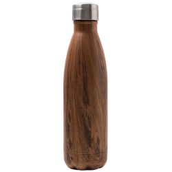 Bouteille isotherme inox 500 ml motif bois