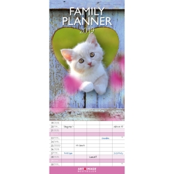 Calendrier familial chats 2019