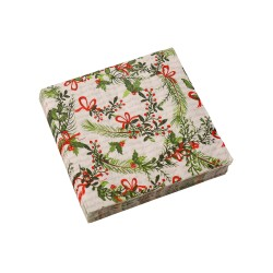 Serviettes papier motif poinsettias - lot de 20
