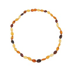 Collier ambre multicolore