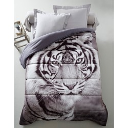 Couette microfibre impression photo tigre 200g/m2