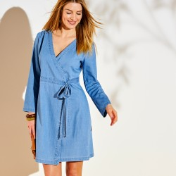 La robe cache coeur denim