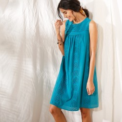 Robe sans manches broderie anglaise