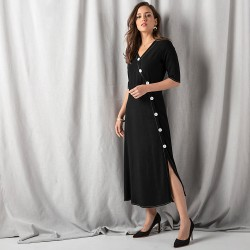 Robe longue coupe portefeuille