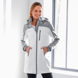 Parka longue Softshell bicolore