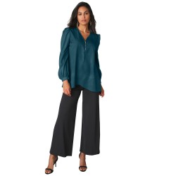 Pantalon large maille extensible