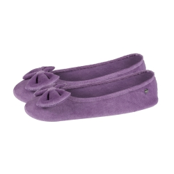 Ballerines velours unies lilas
