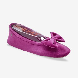 Ballerines velours bio - noeud