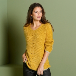 Pull col V maille douceur