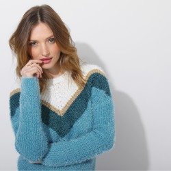 Pull fantaisie maille perlée