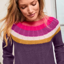 Pull jacquard toucher mohair