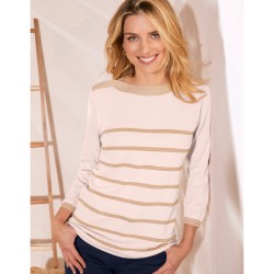 Pull col boule maille douceur