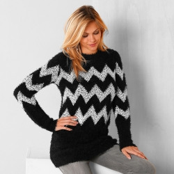 Pull bicolore maille douceur