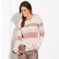 Pull jacquard maill douceur